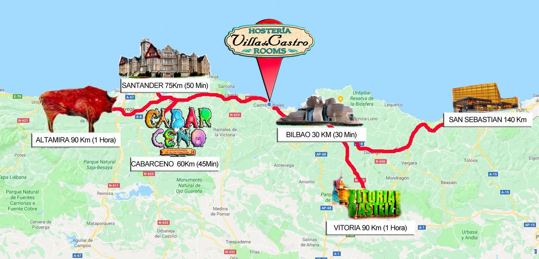 Villa Castro Mapa Cabarceno
