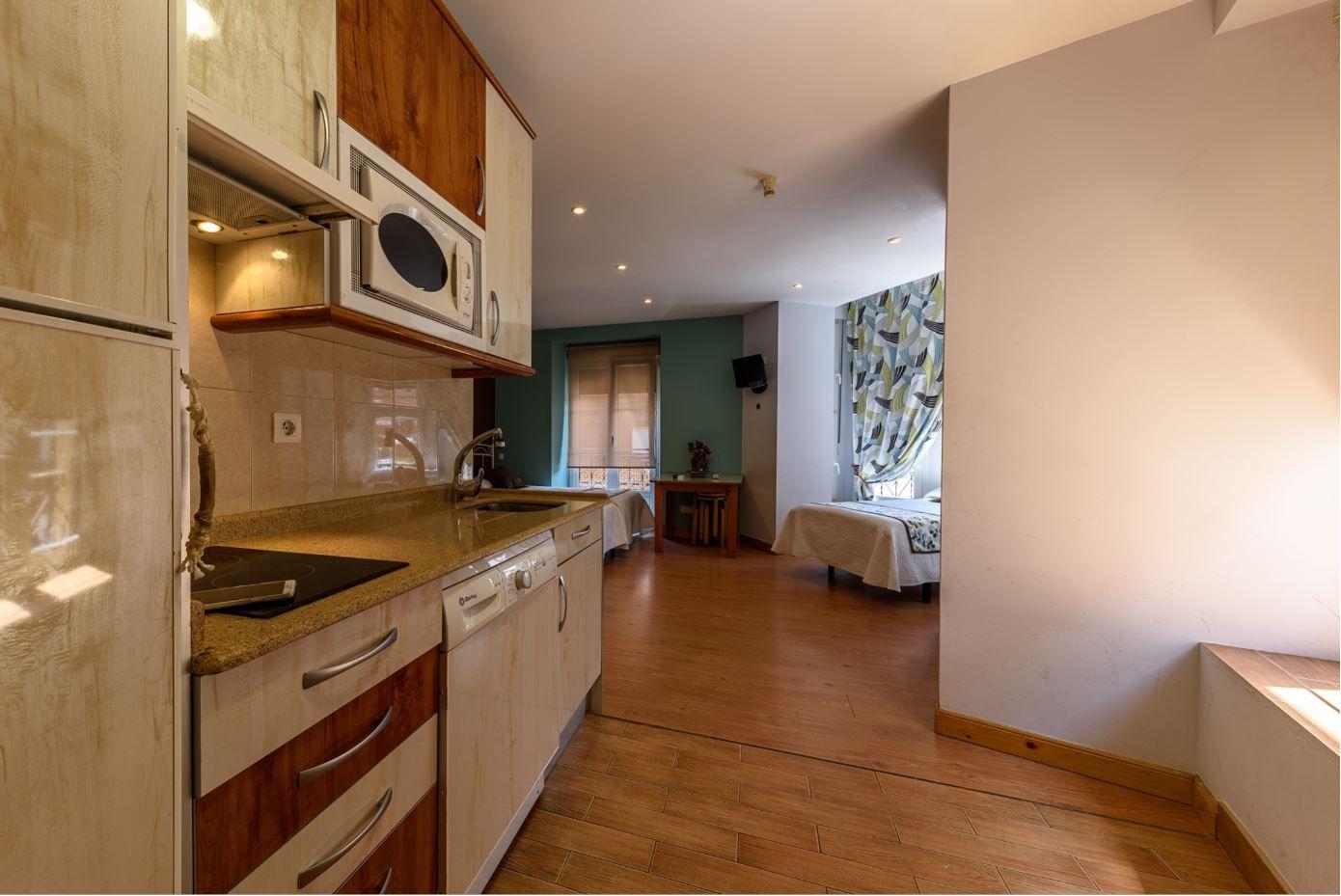 Habitación Cuadruple en hotel Castro Urdiales con cocina